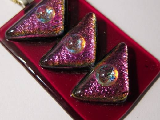 ohgw cherry red with dichroic triangular embellsihment