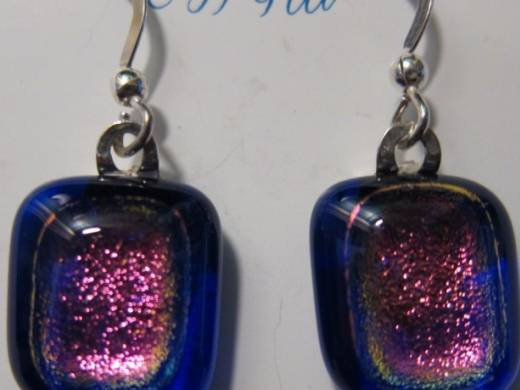 ohgw cobalt blue cathedral with dichroic pink insert