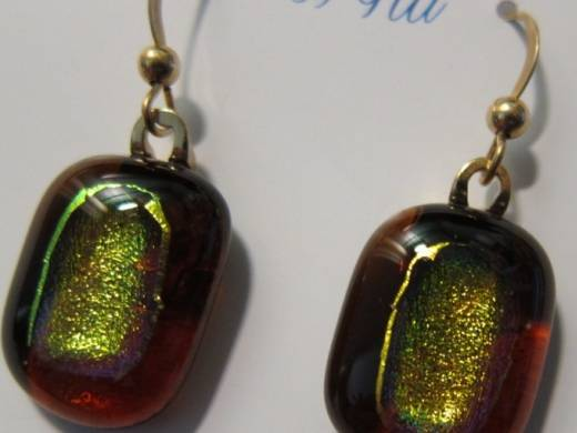 ohgw medium cathedral amber base with gold dichroic insert