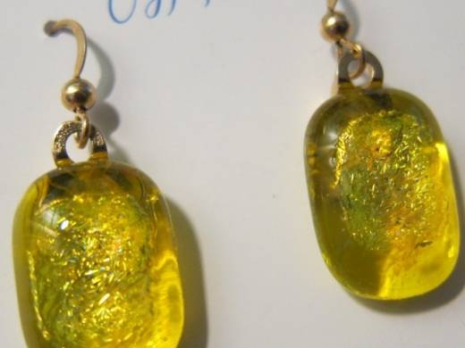 ohgw yellow cathedral with gold dichroic insert