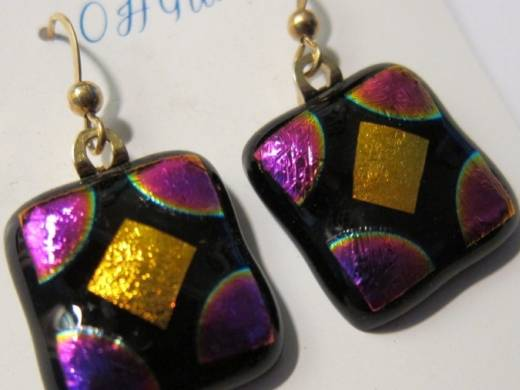 ohgw magenta and gold dichroic on black base