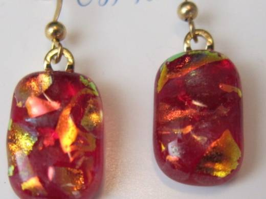 ohgw cherry red cathedral with red/gold dichroic frit
